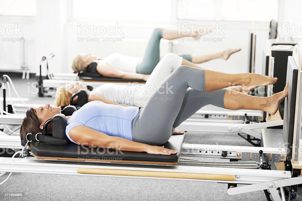 Pilates Machine. stock photo
