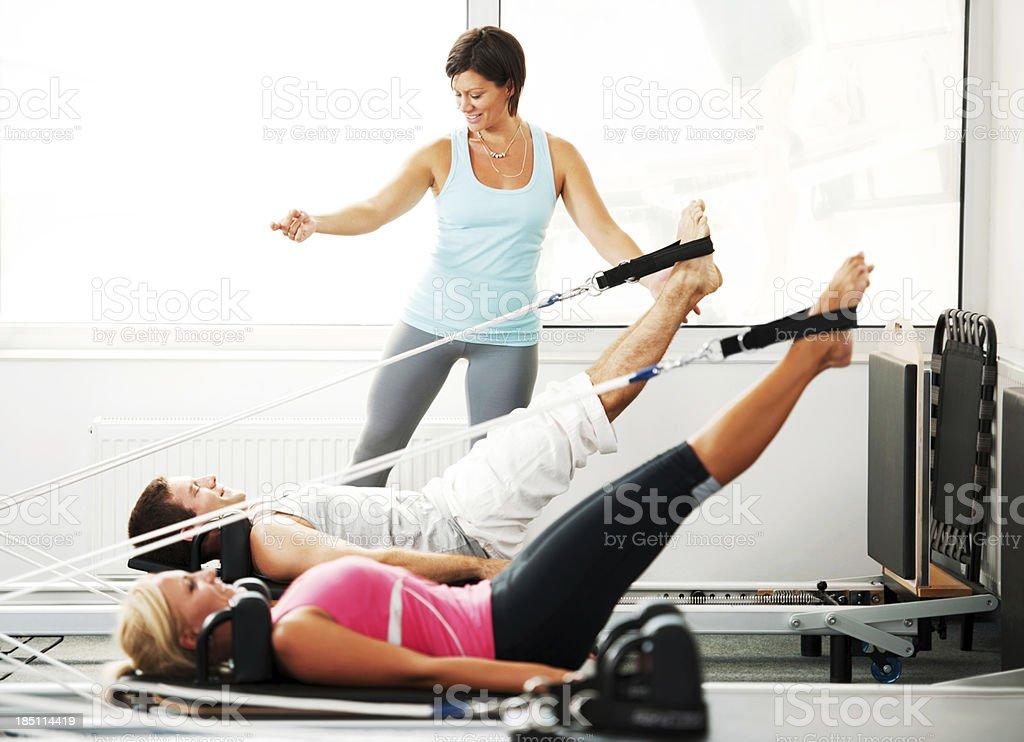Pilates. royalty-free stock photo