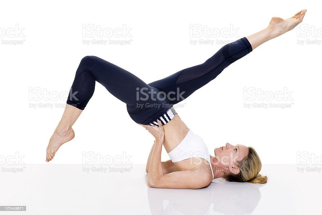 Pilates Position royalty-free stock photo