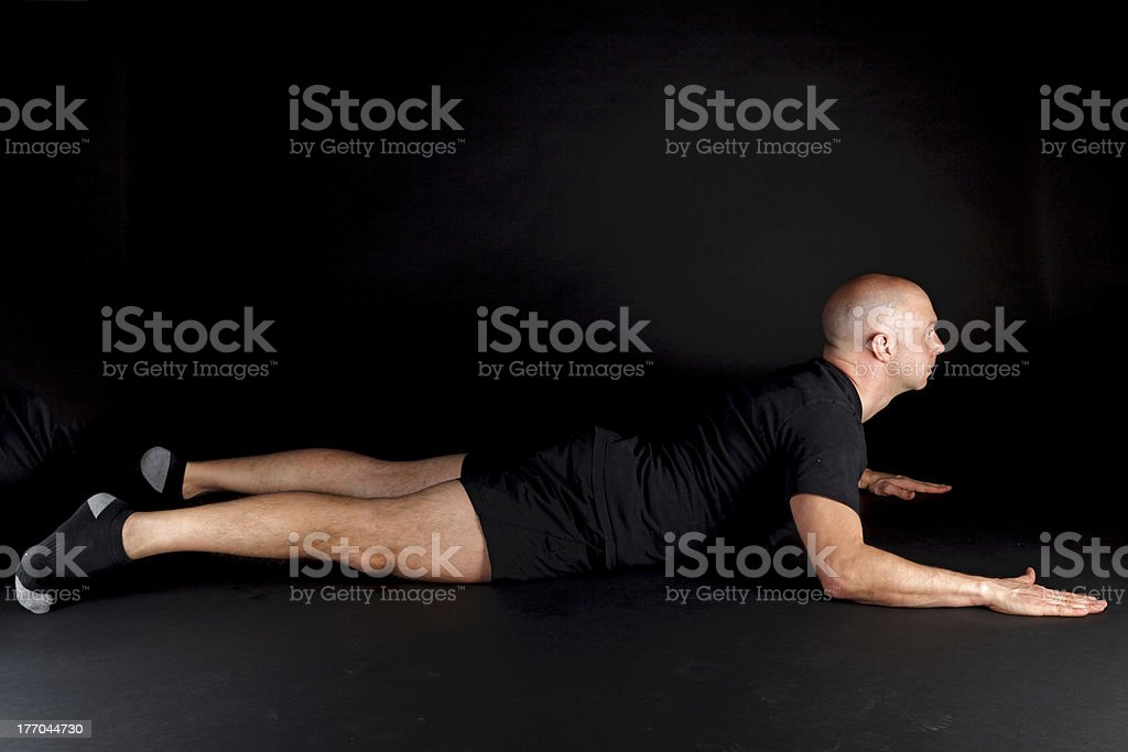 Pilates Position - Swan Dive royalty-free stock photo