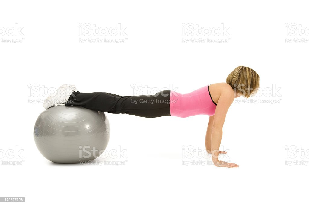 Pilates Push-ups royalty-free stock photo