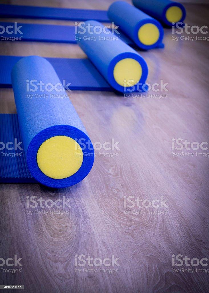 Pilates roller stock photo