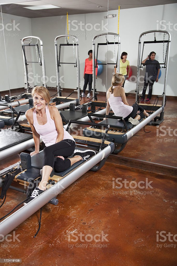 Pilates studio stock photo