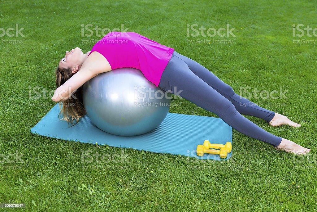 Pilates Teaching stock photo