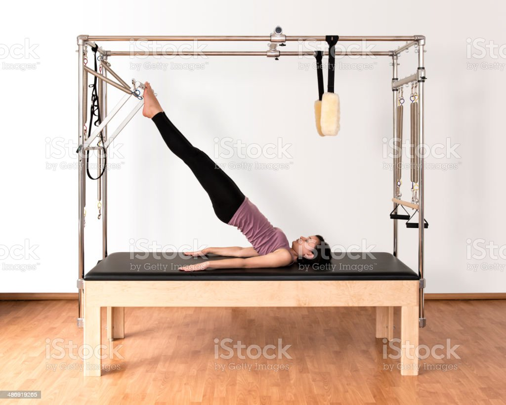 Pilates Work on Trapeze Table stock photo