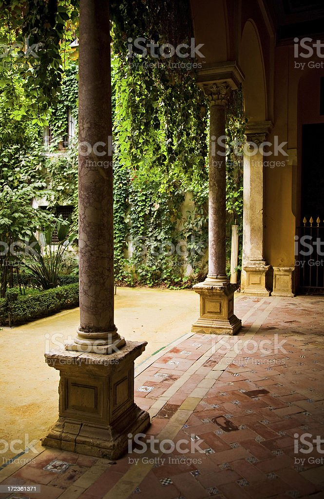 pilatos house inner patio royalty-free stock photo