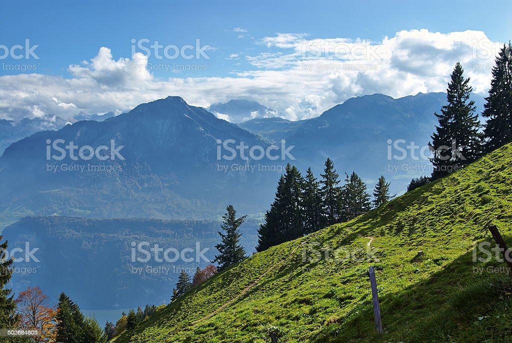 Pilatus mountain alps stock photo