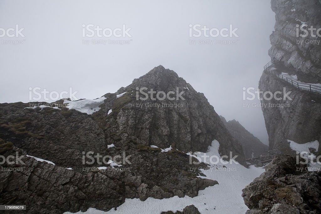 Pilatus Mountain at Lucern Switzerland royalty-free stock photo