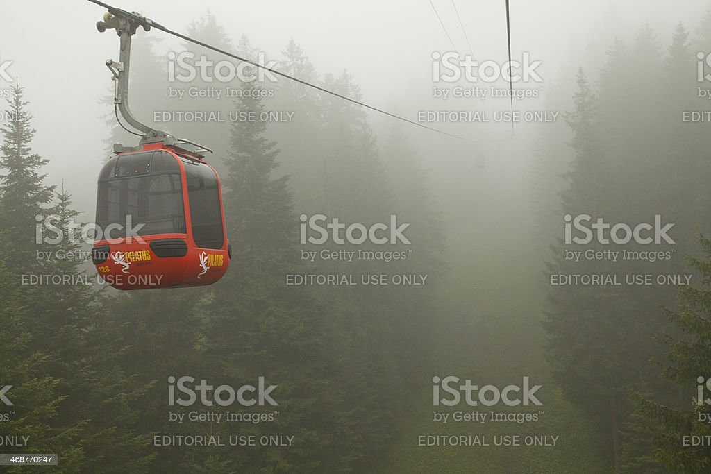 Pilatus mountain Cable Car in Switzerland royalty-free stock photo