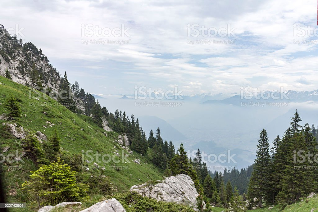 Pilatus Mountain Lucerne Switzerland stock photo