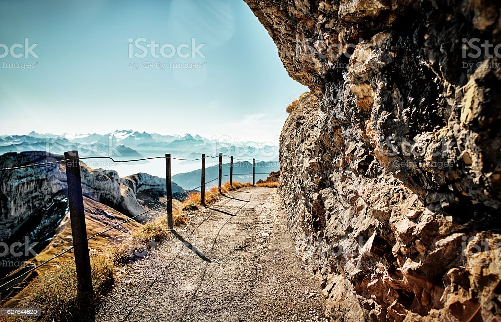 Pilatus Mountain Switzerland stock photo