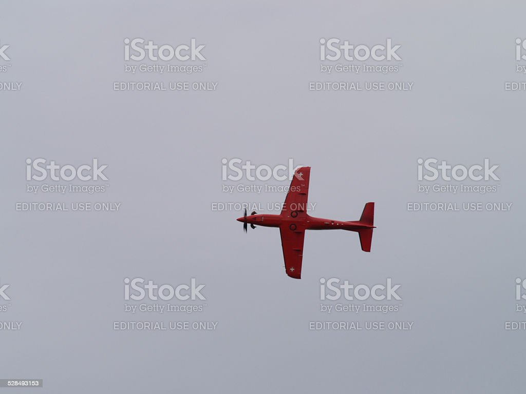 Pilatus PC-21 training aircraft from the swiss air force stock photo