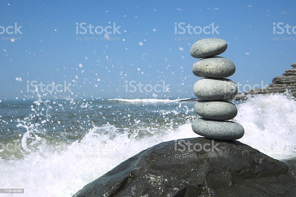pile and wave royalty-free stock photo