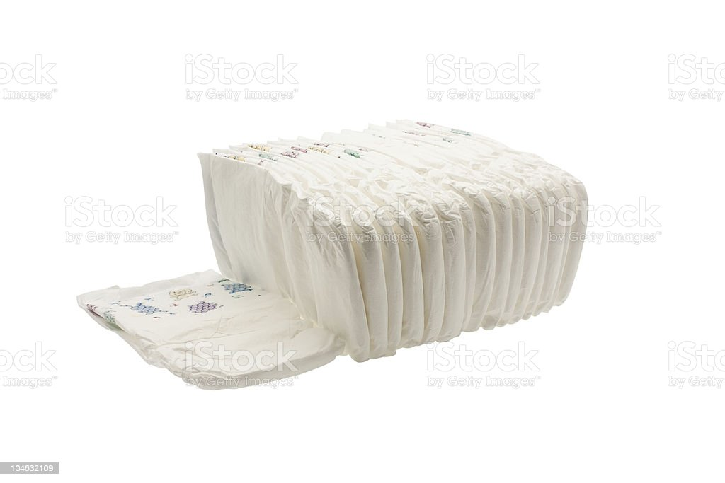 Pile diapers royalty-free stock photo