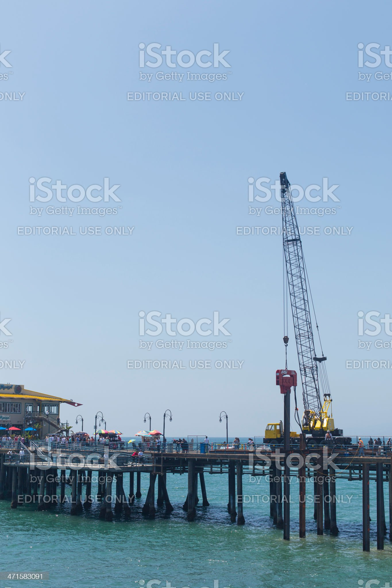 Pile Driver on Pier royalty-free stock photo