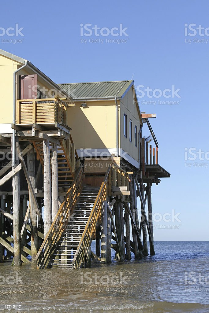 pile dwelling on the North Sea royalty-free stock photo