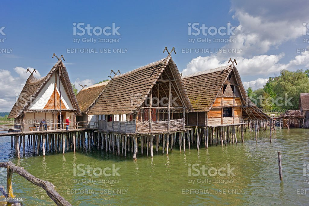 Pile Dwellings of Unteruhldingen stock photo