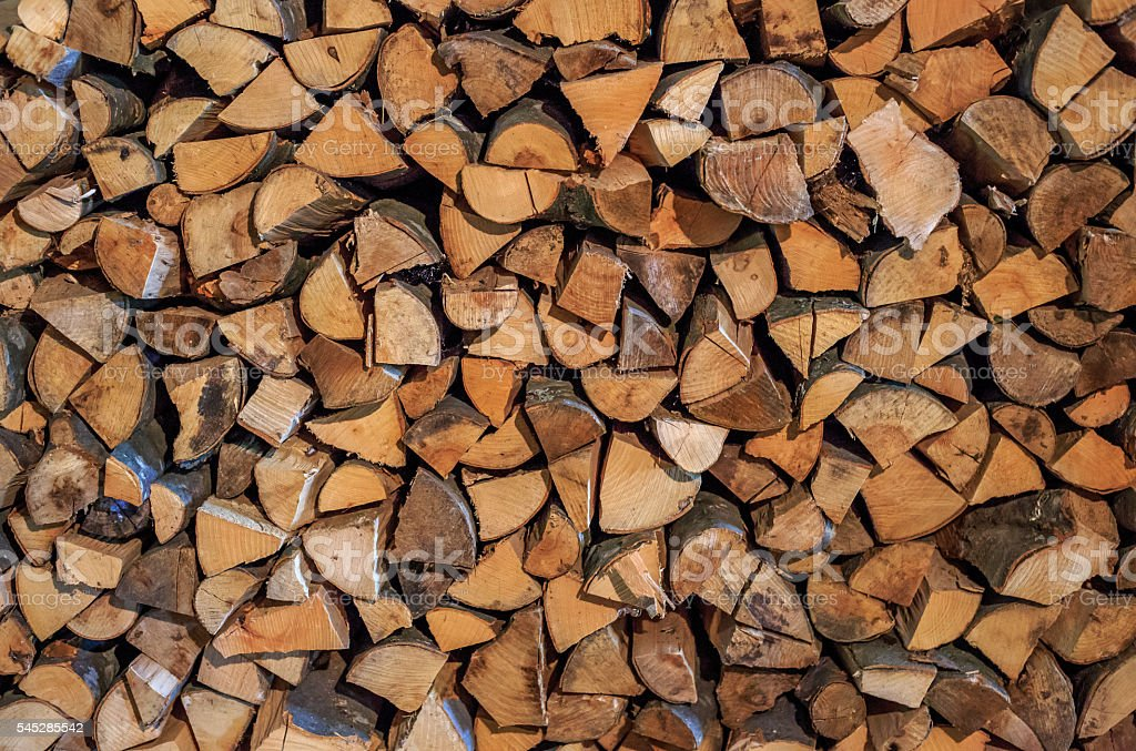 Pile f logs stock photo