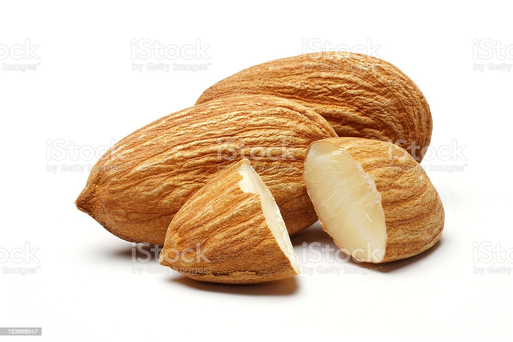Pile Of Almonds stock photo