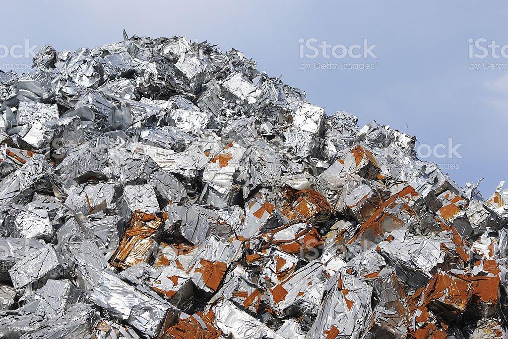 Pile of aluminum royalty-free stock photo