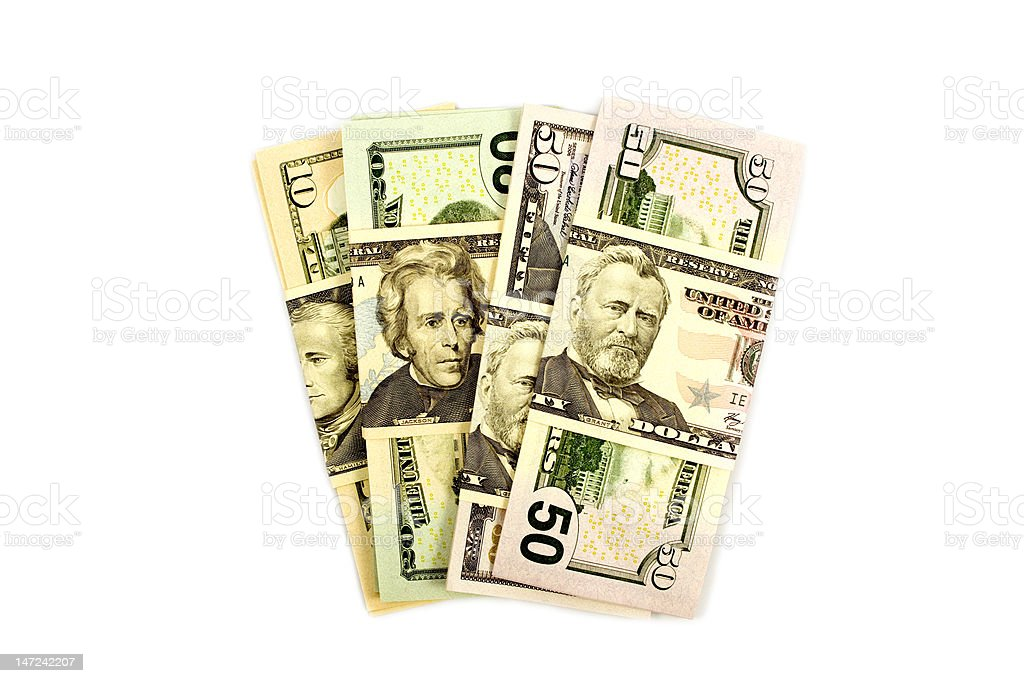 Pile of American money royalty-free stock photo
