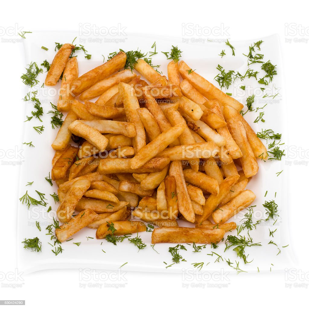 pile of appetizing french fries stock photo