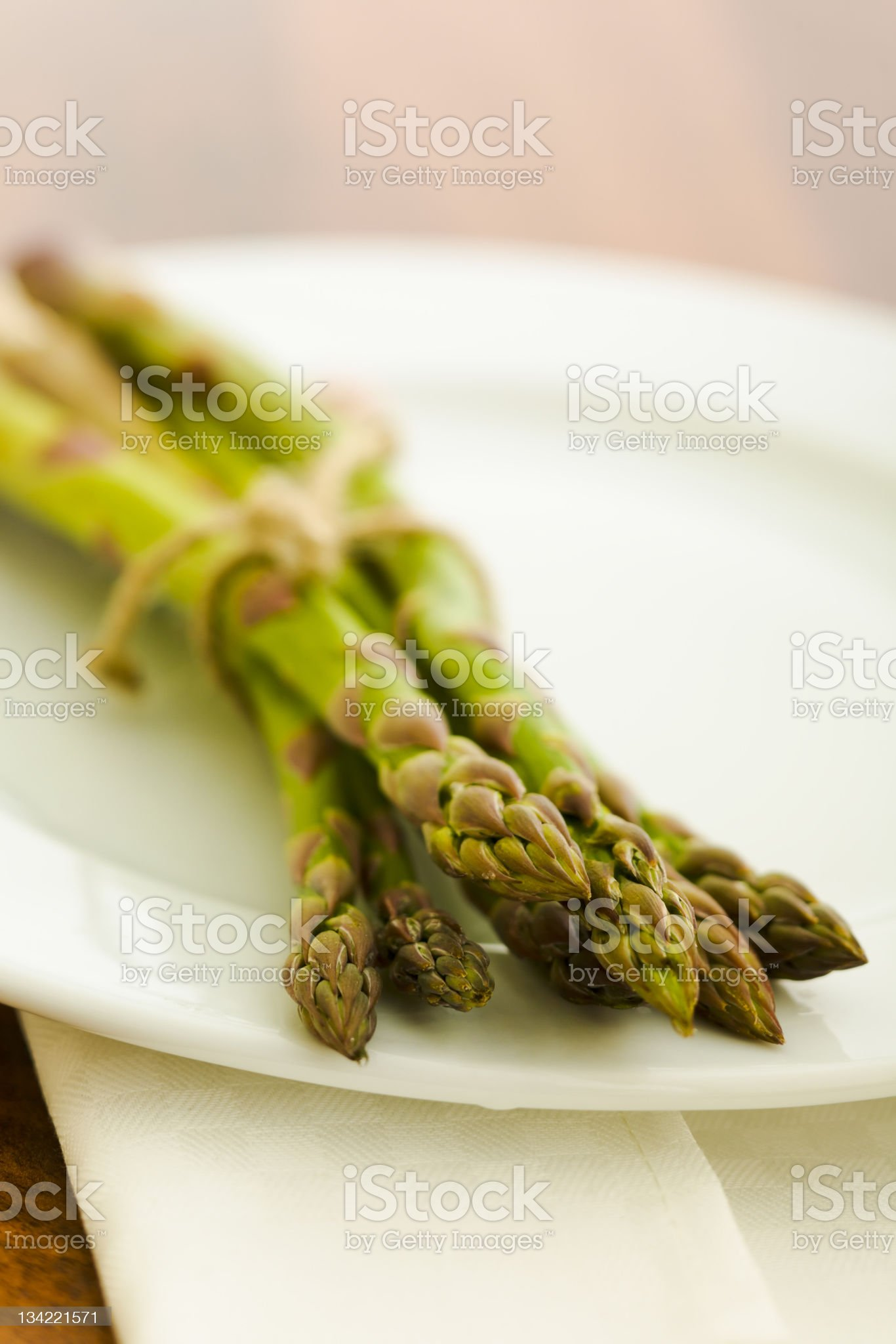 Pile of asparagus royalty-free stock photo