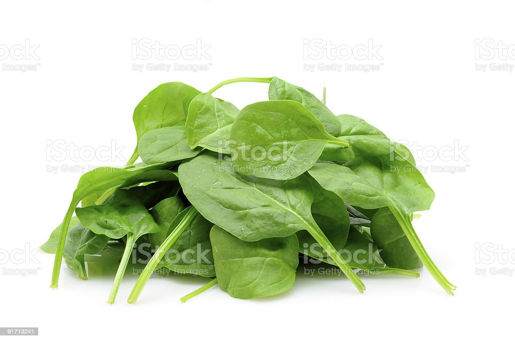 Pile of baby spinach royalty-free stock photo
