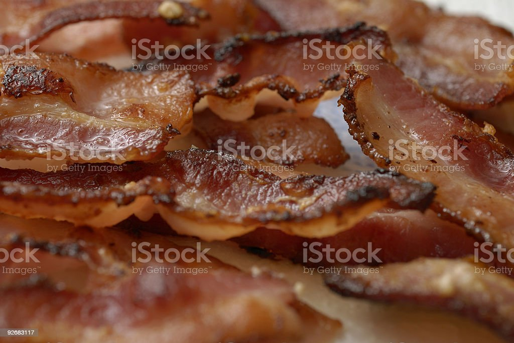 Pile of Bacon stock photo