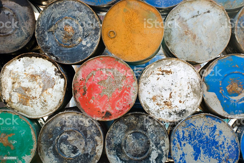 Pile of barrels royalty-free stock photo