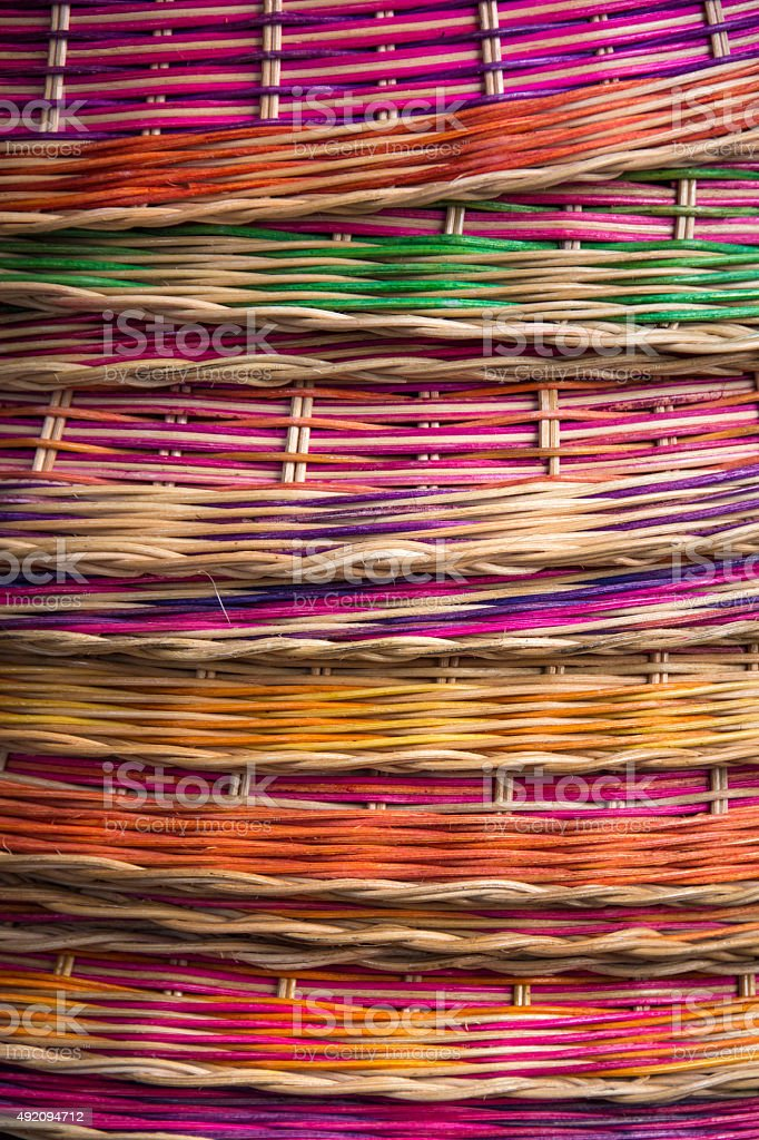 Pile of baskets stock photo