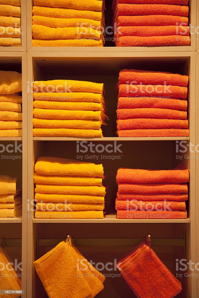 Pile of Beach Towels royalty-free stock photo