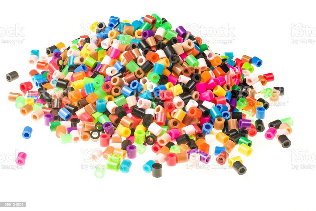 Pile of beads stock photo