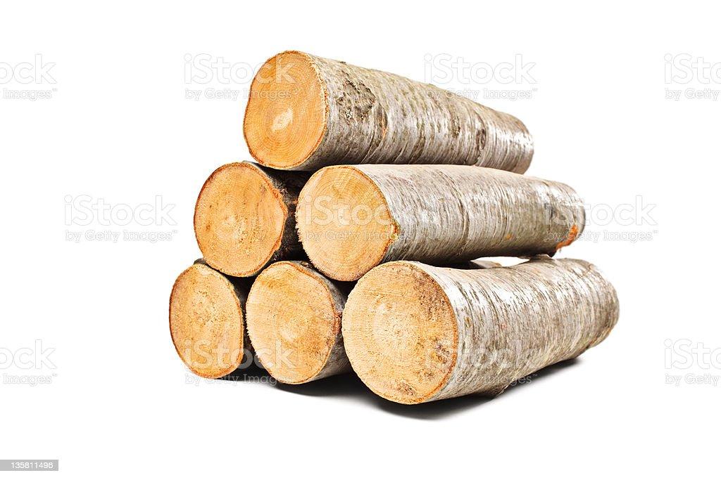 Pile of beech firewood stock photo