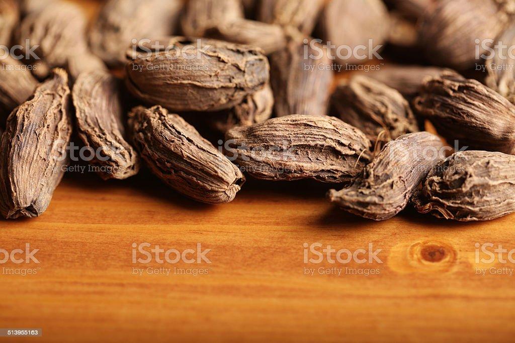 Pile of Black Cardamom stock photo
