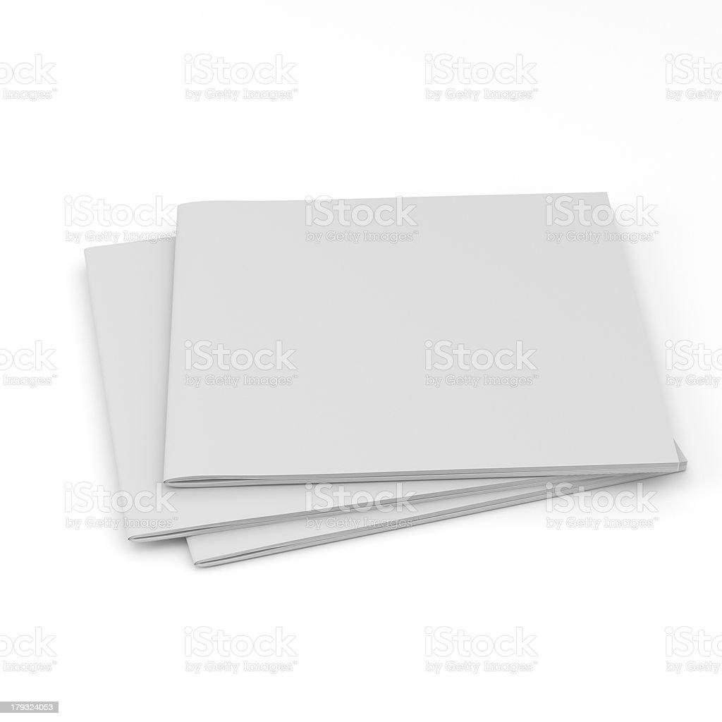 Pile of blank rectangular catalogs royalty-free stock photo