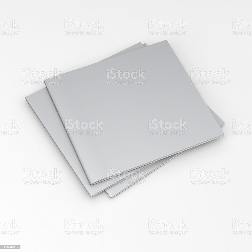 pile of blank square catalogs composition royalty-free stock photo