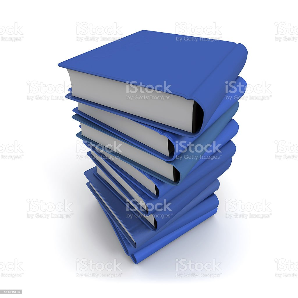 Pile of blue books royalty-free stock photo