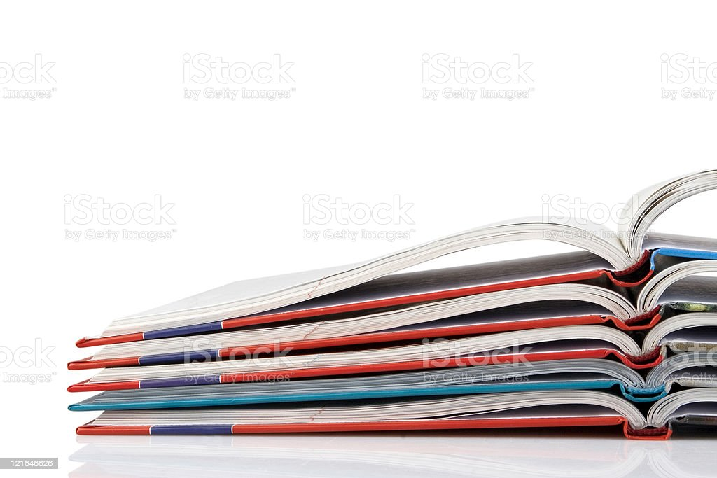 pile of book with bending pages royalty-free stock photo