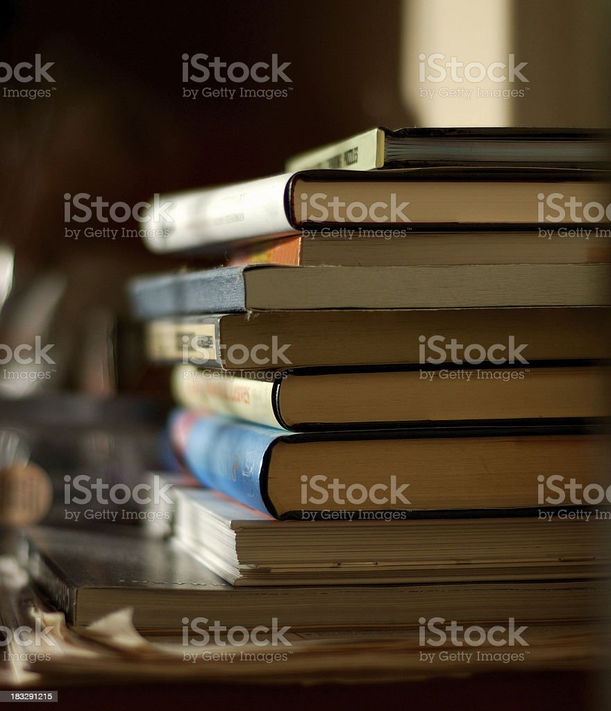 pile of books 1 stock photo