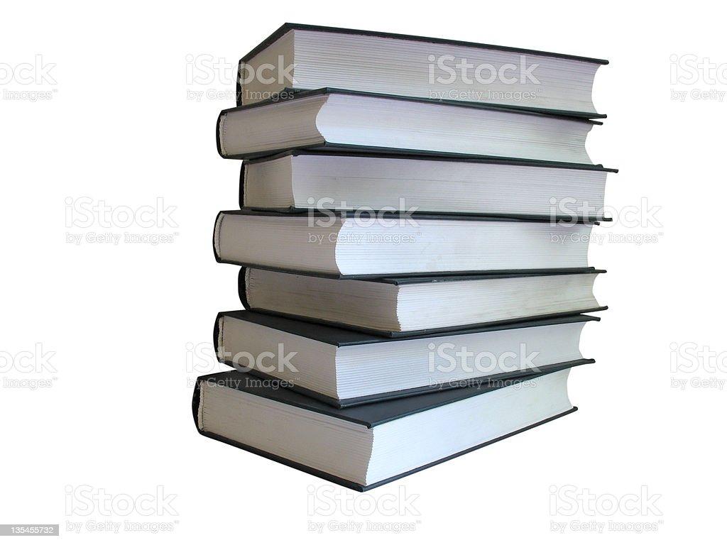 Pilha de livros isolado em fundo branco foto de stock royalty-free
