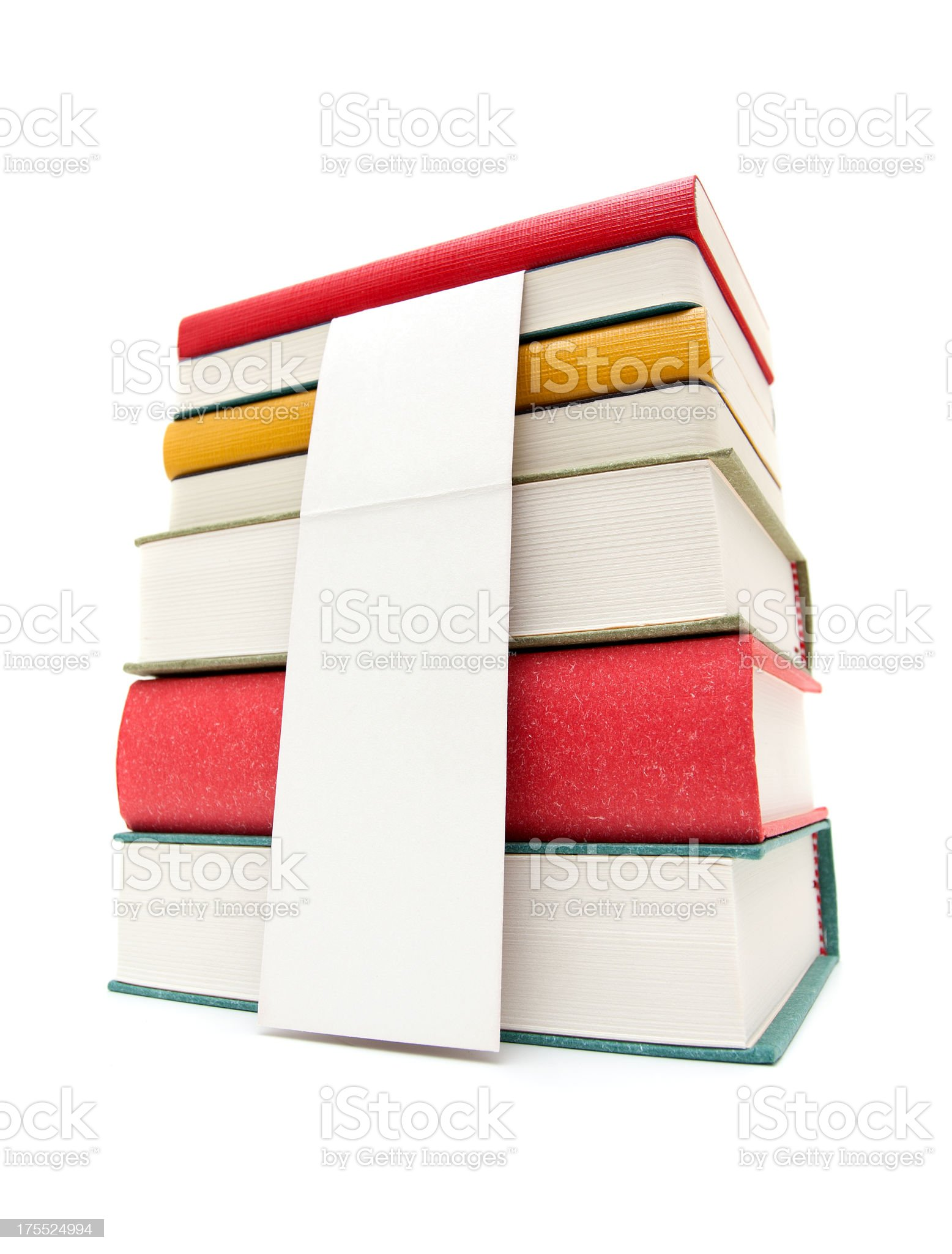 Pile of books isolated on white background royalty-free stock photo
