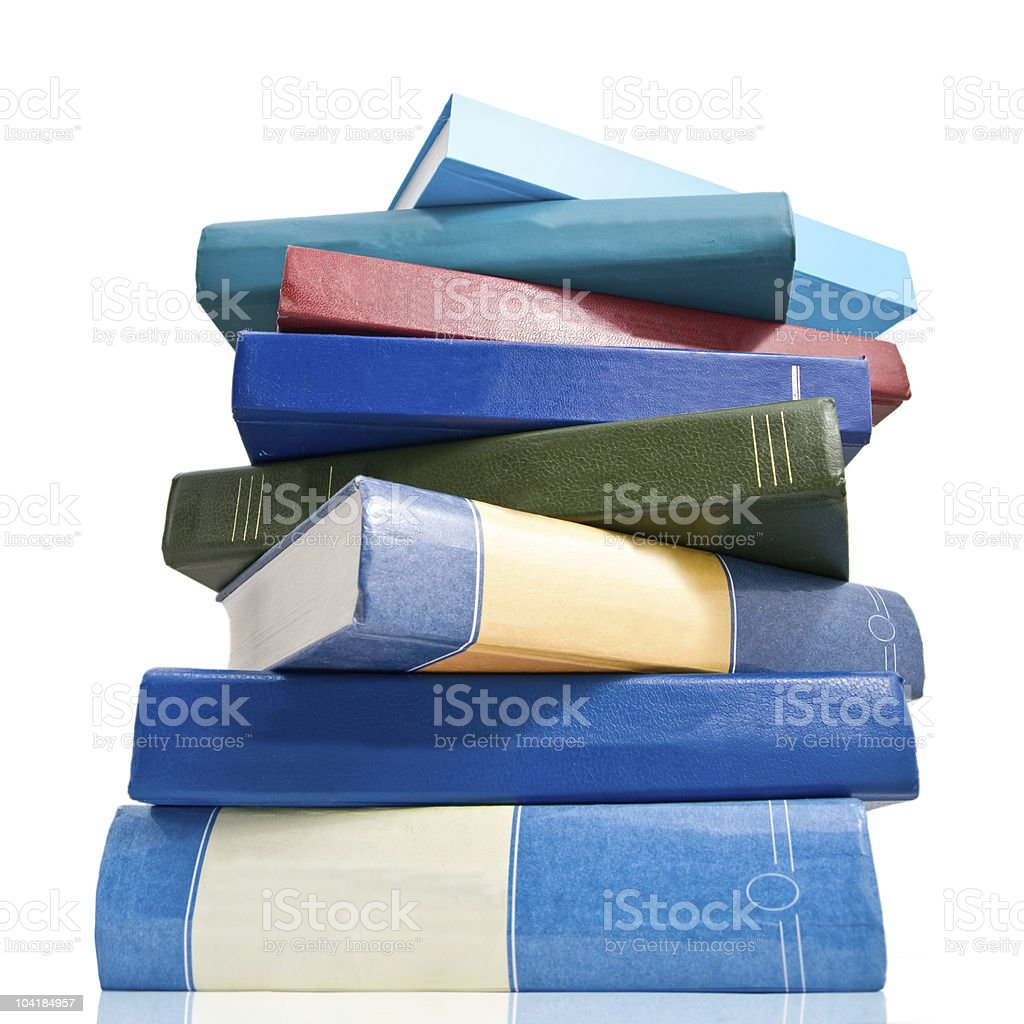 pile of books  isolated on white royalty-free stock photo
