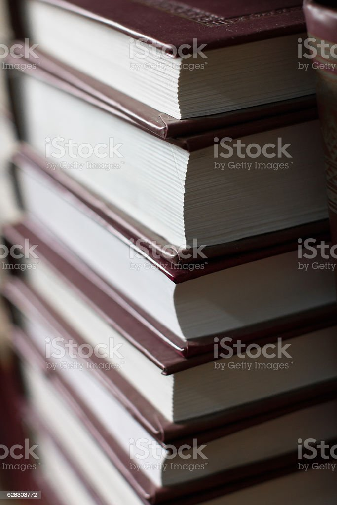 pile of books stacked volume, hardcover stock photo