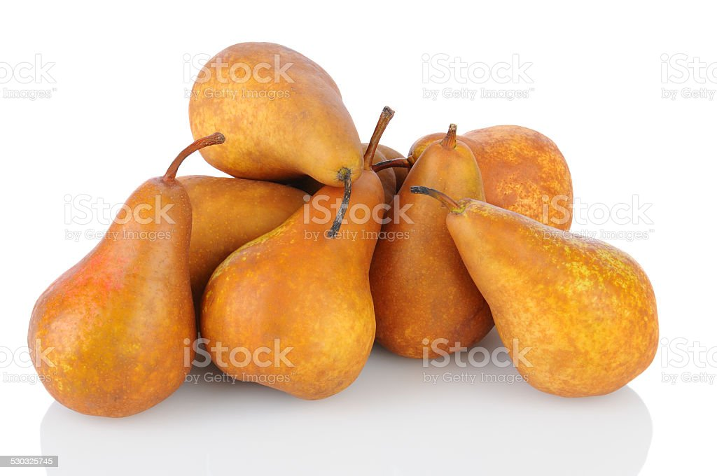 Pile of Bosc  Pears stock photo