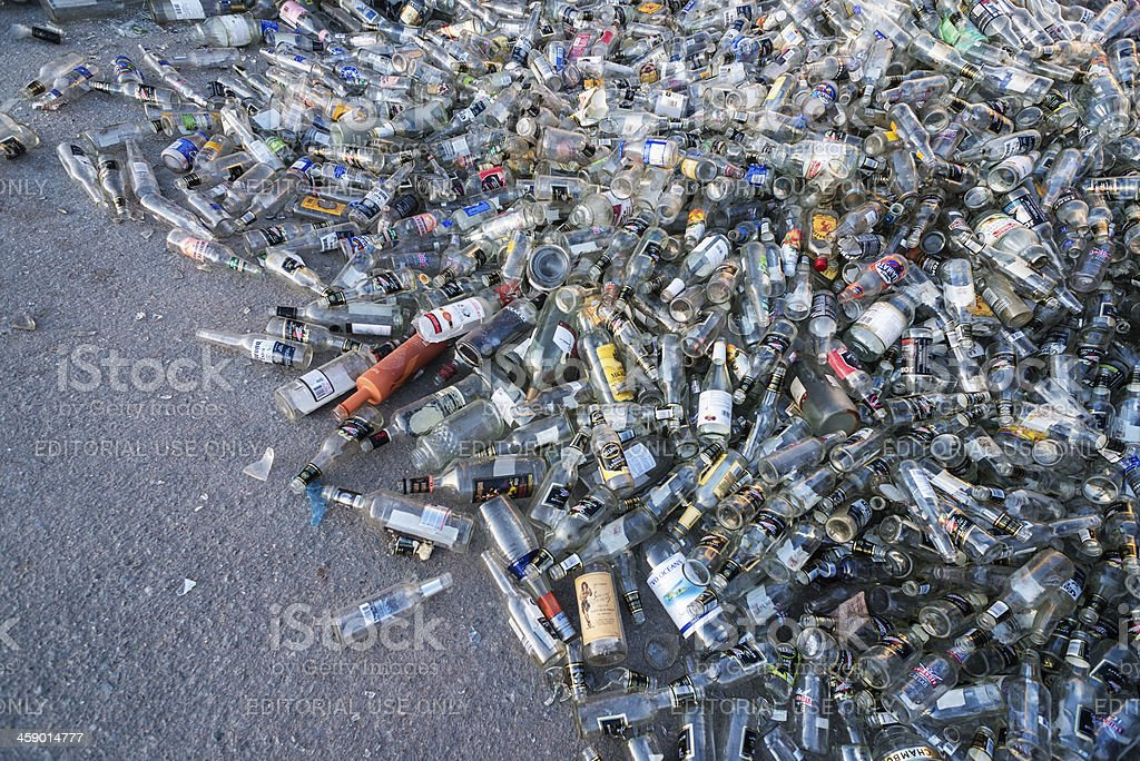 Pile of Bottles royalty-free stock photo