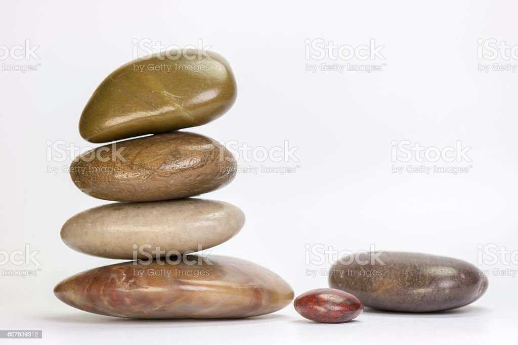 Pile of boulders of natural stone. stock photo