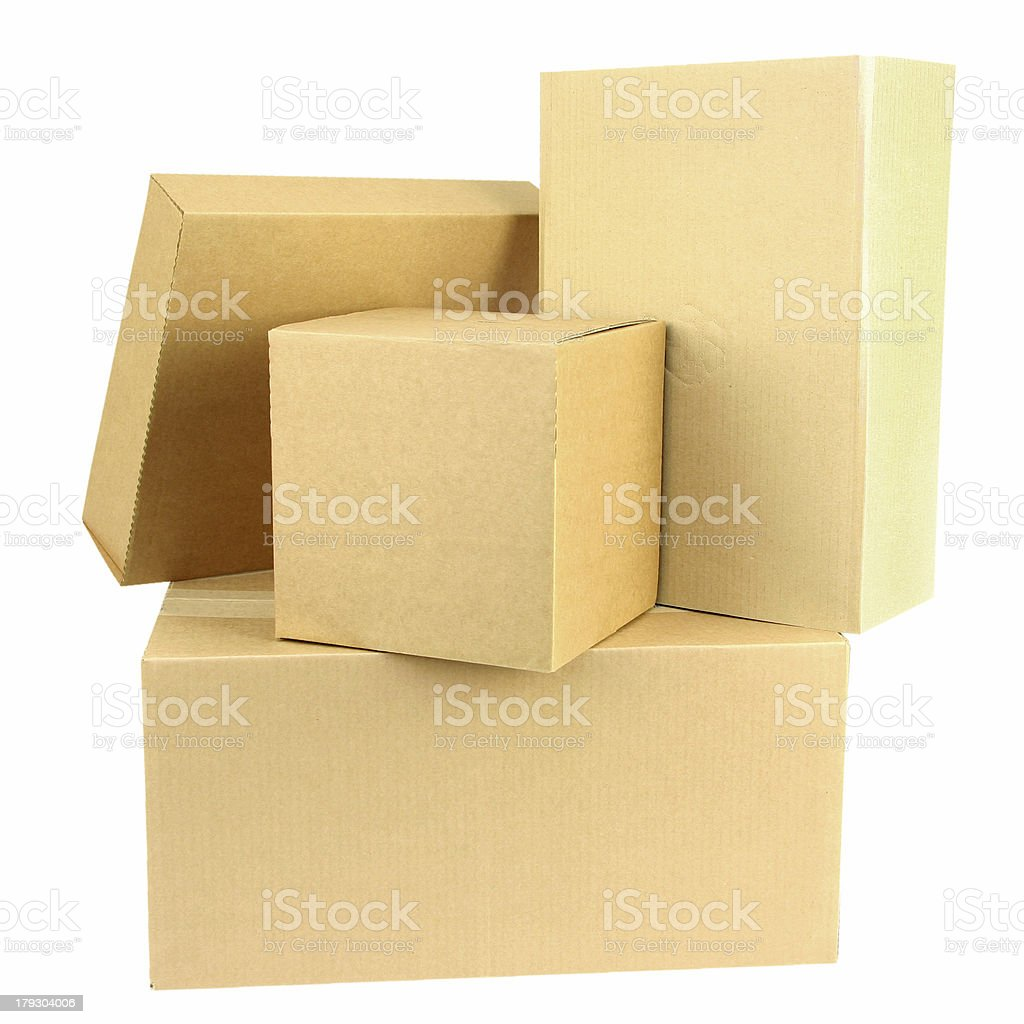 Pile of boxes II royalty-free stock photo