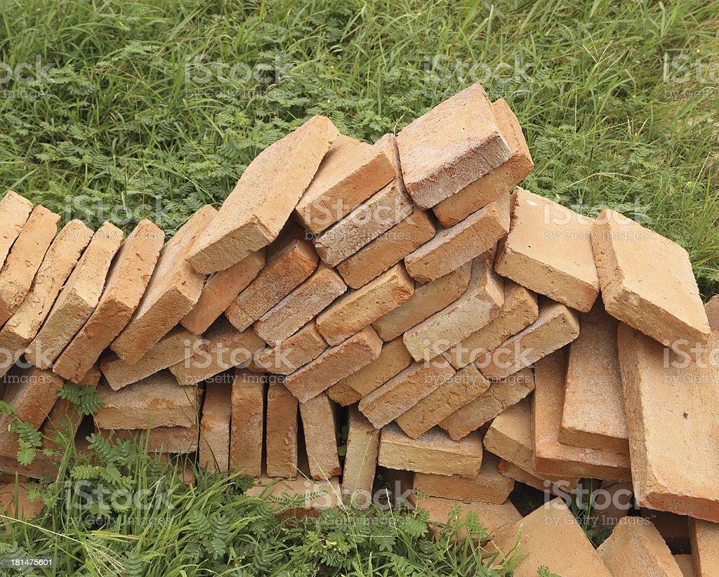 Pile of brick wall royalty-free stock photo