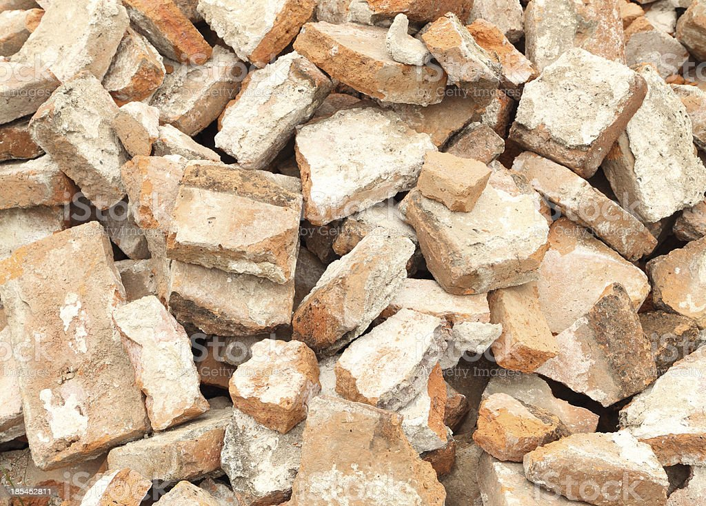 Pile of brick wall royalty-free stock photo